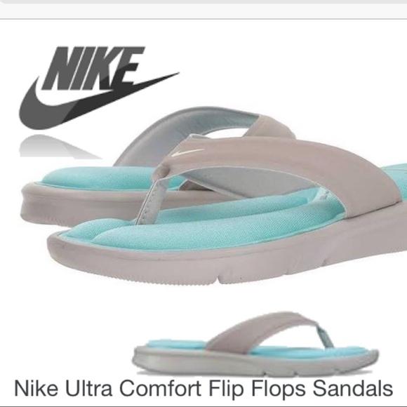 c93ce67de Nike Ultra Comfort Flip Flops SandalsGraySailAqua